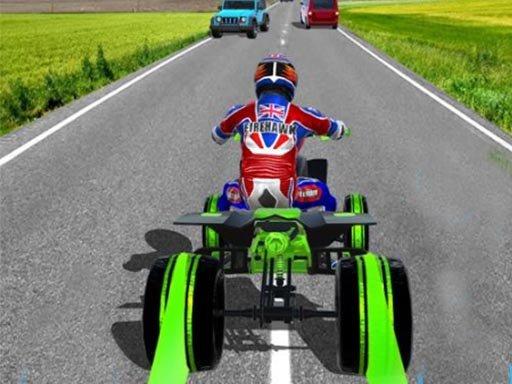 ATV Quad Bike Traffic Rider