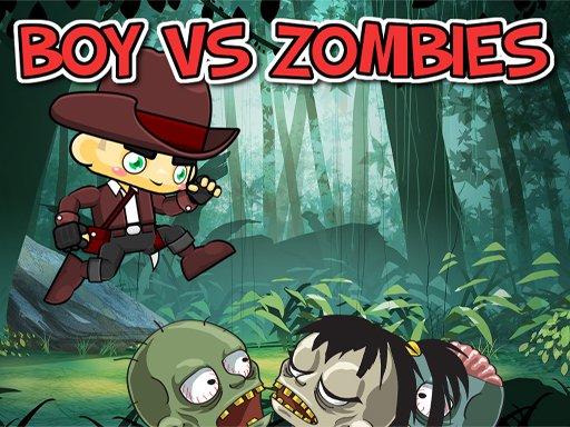 Junge gegen Zombies