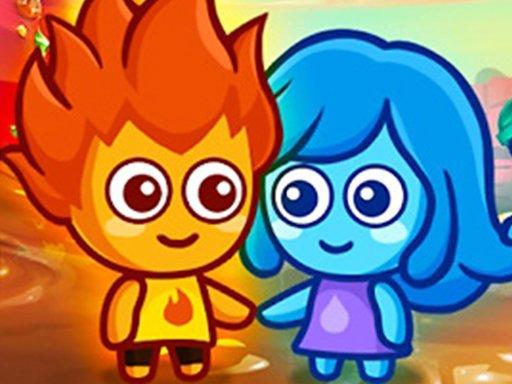 Lavajunge und blaues Mädchen