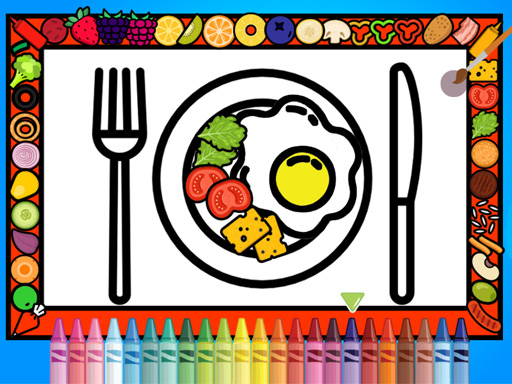 Color And Decorate Dinner Plate